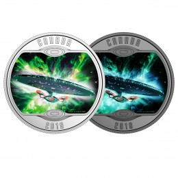 2018 Canadian $10 Star Trek™ Iconic Starships: The Next Generation - 1/2 oz Fine Silver Coin (Glow-In-The-Dark)