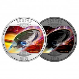 2018 Canadian $10 Star Trek™ Iconic Starships: USS Voyager NCC-74656 - 1/2 oz Fine Silver Coin (Glow-In-The-Dark)