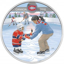 2018 Canadian $10 Learning to Play: Montreal Canadiens - Fine Silver Coin