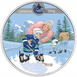 2018 Canadian $10 Learning to Play: Vancouver Canucks - Fine Silver Coin
