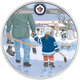 2018 Canadian $10 Learning to Play: Winnipeg Jets - Fine Silver Coin