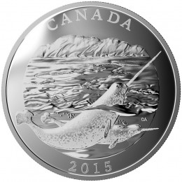 2015 Canadian $125 Conservation Series: The Narwhal - 1/2 Kilo Fine Silver Coin
