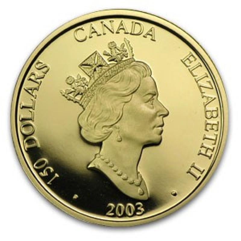 2003 Canada 18 Karat Gold 150 Hologram Coin Lunar Year