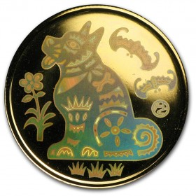 2006 Canada 18-karat Gold $150 Hologram Coin - Lunar Year of the Dog