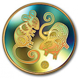 2008 Canada 18-karat Gold $150 Hologram Coin - Lunar Year of the Rat