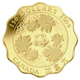 2009 Canada Pure Gold $150 Coin - Blessings of Wealth