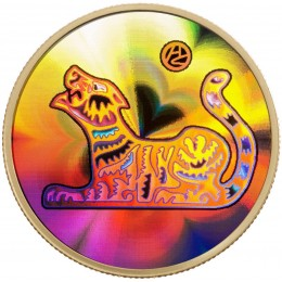 2010 Canada 18-karat Gold $150 Hologram Coin - Lunar Year of the Tiger