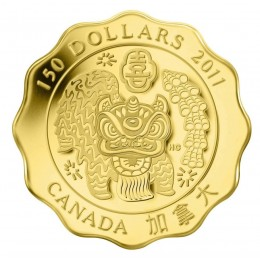 2011 Canada Pure Gold $150 Coin - Blessings of Happiness