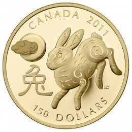 2011 Canada 18-karat Gold $150 Coin - Lunar Year of the Rabbit