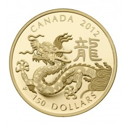 2012 Canada 18-karat Gold $150 Coin - Lunar Year of the Dragon