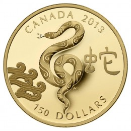 2013 Canada 18-karat Gold $150 Coin - Lunar Year of the Snake