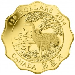 2014 Canada Pure Gold $150 Coin - Blessing of Longevity