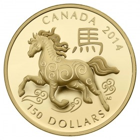 2014 Canada 18-karat Gold $150 Coin - Lunar Year of the Horse