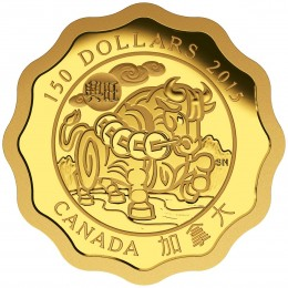 2015 Canada Pure Gold 150 Dollar Coin - Blessings of Prosperity