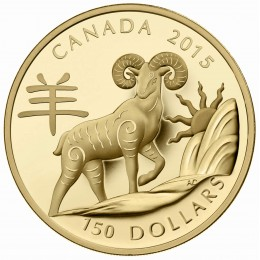 2015 Canada 18-karat Gold $150 Coin - Lunar Year of the Sheep