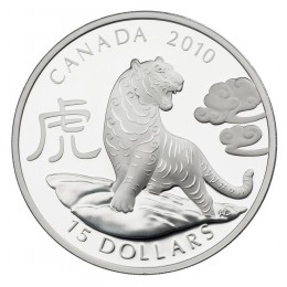 2010 Canada Fine Silver $15 Coin - Year of the Tiger