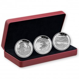 2015 Canadian $15 Artwork by Franklin Carmichael - Fine Silver 3-Coin Set