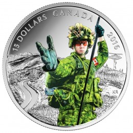 2016 Canada Fine Silver $15 Coin - National Heroes: Military