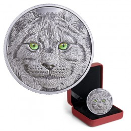 2017 Canadian $15 In The Eyes of the Lynx - Fine Silver Coin (Glow-In-The-Dark)
