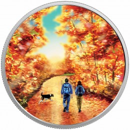 2017 Canadian $15 Great Canadian Outdoors: Sunrise - Fine Silver Coin (Glow-In-The-Dark)