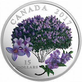 2017 Canadian $15 Celebration of Spring: Lilac Blossoms - Fine Silver Coin