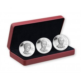 2011 Canada Sterling Silver $15 Coins - Continuity of the Crown: 3-Coin Set