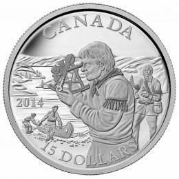 2014 Canada Fine Silver $15 Coin - Exploring Canada: The Pioneering Mapmakers