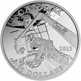 2015 Canadian $15 Exploring Canada: Space Exploration - Fine Silver Coin