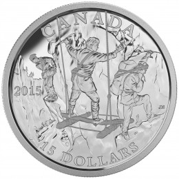 2015 Canadian $15 Exploring Canada: The Wild Rivers Exploration - Fine Silver Coin