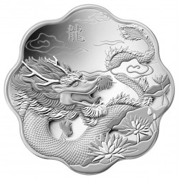 2012 Canada Fine Silver $15 Coin - Lunar Lotus: Year of the Dragon