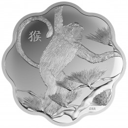 2016 Canada Fine Silver $15 Coin - Lunar Lotus: Year of the Monkey