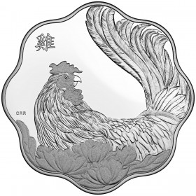 2017 Canada Fine Silver $15 Coin - Lunar Lotus: Year of the Rooster