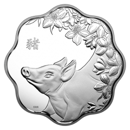 2019 Canadian $15 Lunar Lotus: Year of the Pig - Fine Silver Coin