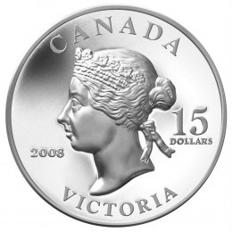 2008 Canada Sterling Silver $15 Coin - Vignettes of Royalty: Queen Victoria