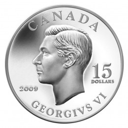 2009 Canada Sterling Silver $15 Coin - Vignettes of Royalty: King George VI