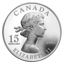 2009 Canada Sterling Silver $15 Coin - Vignettes of Royalty: Queen Elizabeth