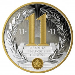 2018 Canadian $1 100th Anniversary of the Armistice of the First World War - Fine Silver Coin