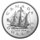 2019 (1949-) Canadian $1 70th Anniversary of Newfoundland Joining Canada - 5 oz Fine Silver Coin