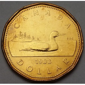 1988 Canadian $1 Common Loon (Brilliant Uncirculated)
