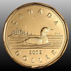 2003 Canadian $1 Common Loon, New Effigy (Brilliant Uncirculated)