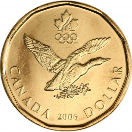 2006 Canadian $1 Lucky Loonie (Brilliant Uncirculated)