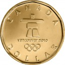 2010 Canadian $1 Vancouver 2010, Lucky Loonie (Brilliant Uncirculated)