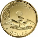 2014 Canadian $1 Olympic Lucky Loonie (Brilliant Uncirculated)