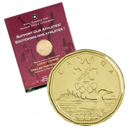 2004 Canada Special Edition $1 Olympic Lucky Loonie Official First Day Coin