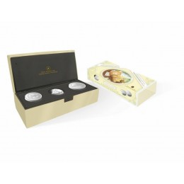 2006 Canada Baby Keepsake Tins & Sterling Silver Dollar Coin Gift Set