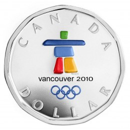 2010 Canada Sterling Silver Dollar - Anticipating the Games, Vancouver 2010