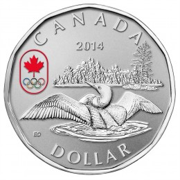 2014 Canada Proof Fine Silver $1 Dollar Coin - Lucky Loonie