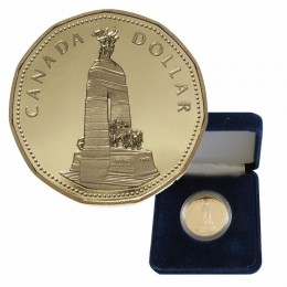 1994 Canadian $1 Remembrance/National War Memorial Loonie Proof Dollar Coin