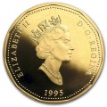 1995 Canadian $1 Peacekeeping/United Nations 50th Anniv Loonie Proof Dollar Coin