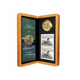 2004 Canada Limited Edition $1 Coin & Stamp Set - The Elusive Loon